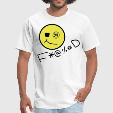 Acid-face Fucked Smiley Face - Men's T-Shirt