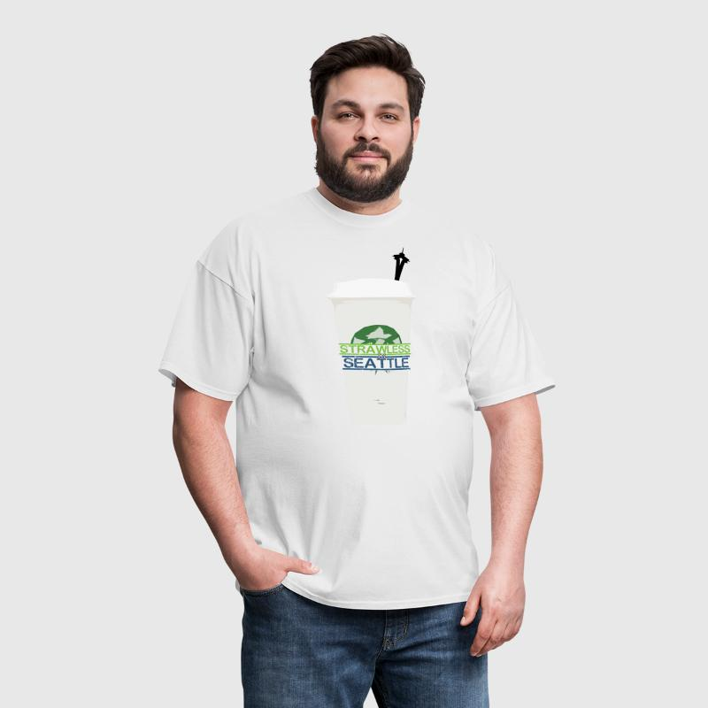 Strawless In Seattle (Womens) - Men's T-Shirt
