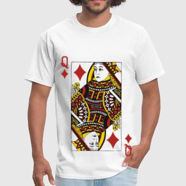 Card Queen of Diamonds - Men's T-Shirt