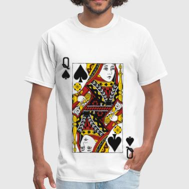 Card Queen of Spades - Men's T-Shirt
