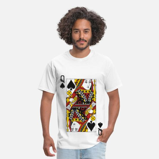 Queen T-Shirts - Queen of Spades - Men's T-Shirt white