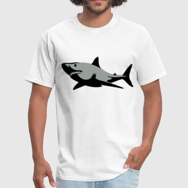 Blue Gill Shark Smile Filled - Men's T-Shirt