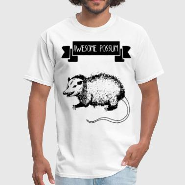 Possum Awesome Possum mens funny mammal animal lover pig - Men's T-Shirt