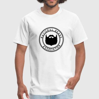 Beard Nation National Beard Association Beards Mustache 1c - Men's T-Shirt