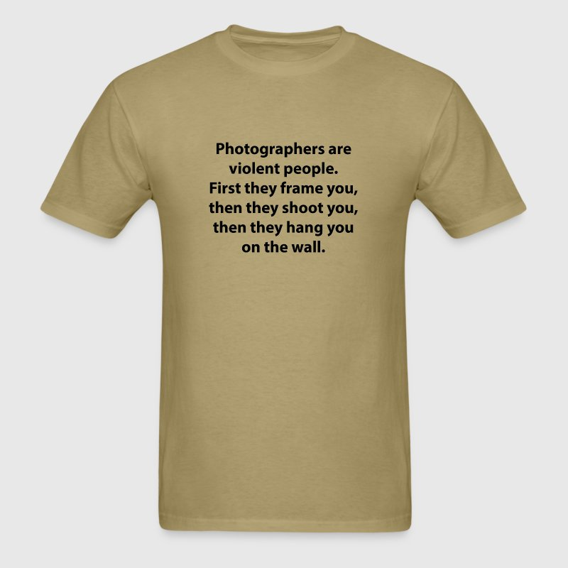Photographers Are Violent People. Fotografi Sono Persone Violente. T-shirt Maglietta UlF6i5mm