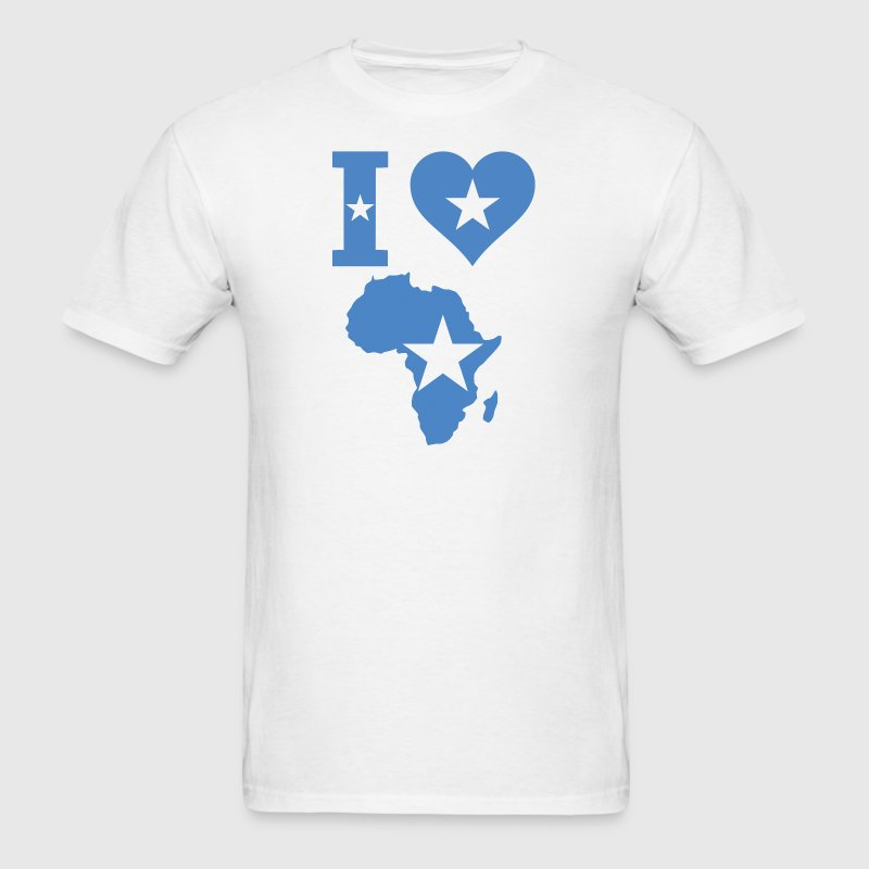 Love Africa Somalia Flag - Men's T-Shirt