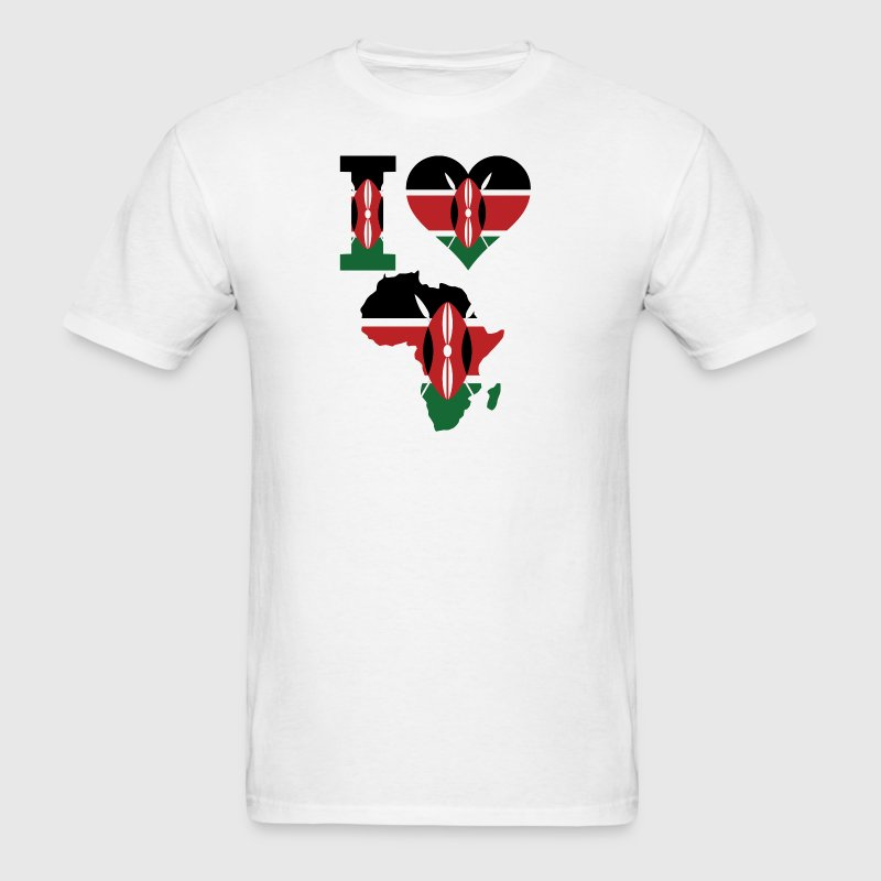 I Love Africa Kenya - Men's T-Shirt