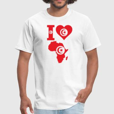 Africa Map Tunisia Flag - Men's T-Shirt
