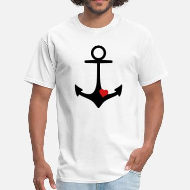 Hearts And Anchors anchor and heart - Men's T-Shirt