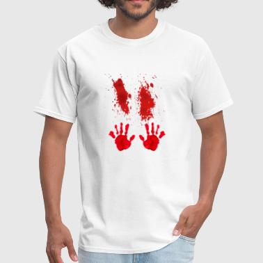Bloody Hand Smear Halloween 2018 T-Shirt - Men's T-Shirt