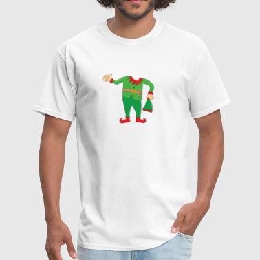CHRITMAS FUNNY GIFT ELF BOY GIRL costume hat BUDDY - Men's T-Shirt