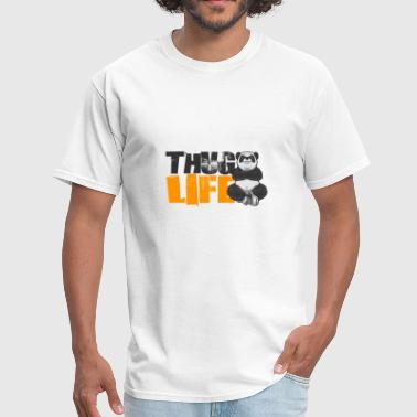 Thug Designs animal panda bear dark thug life - Men's T-Shirt