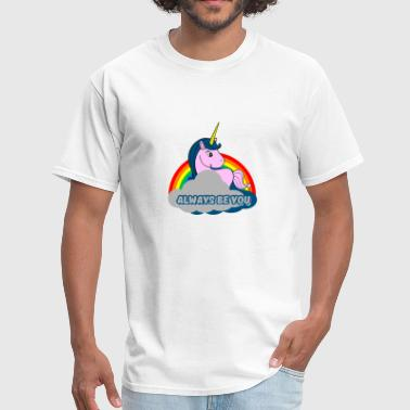 Young Wild Free Always Be You Funny Unicorn T shirt - Men's T-Shirt