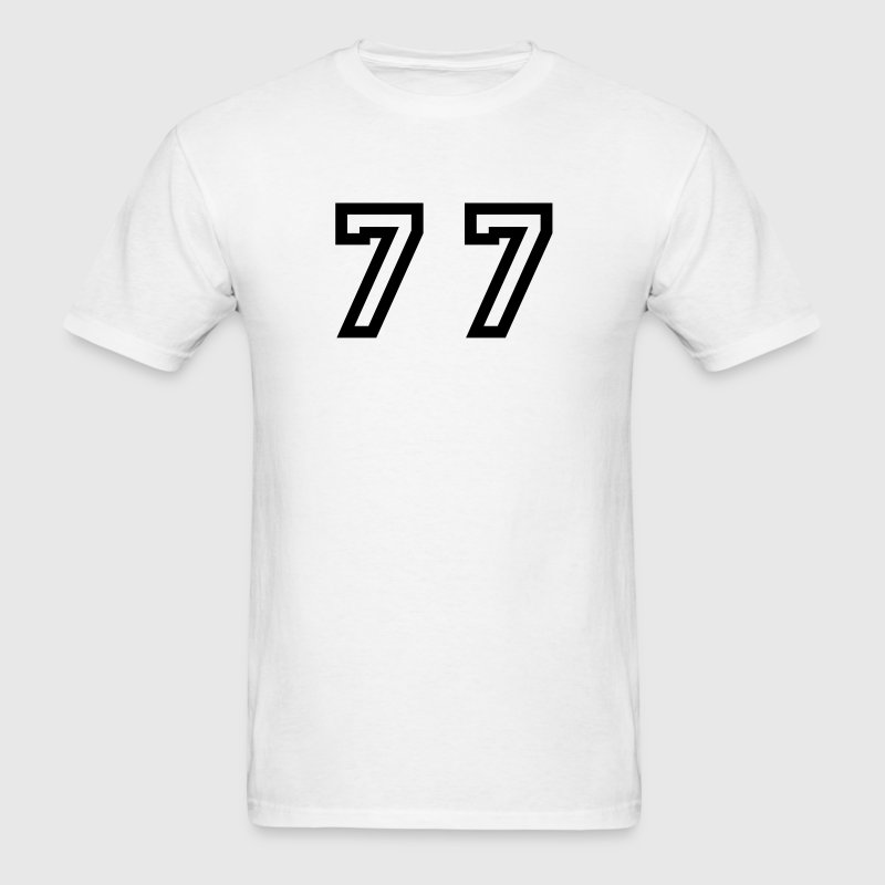 Number - 77 - Seventy Seven - Men's T-Shirt