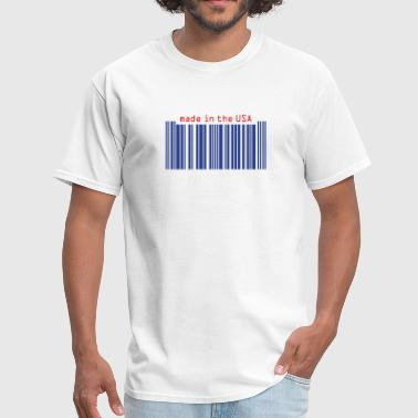 American Barcode barcode_made in usa - Men's T-Shirt