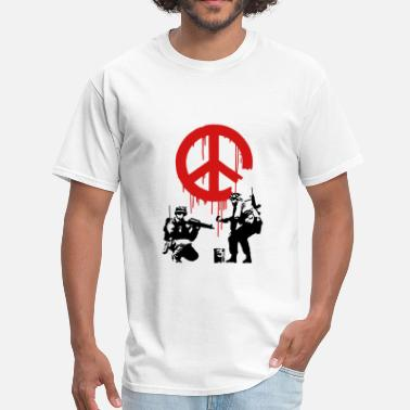 Cnd Banksy CND Peace Sign Soldiers - Men's T-Shirt
