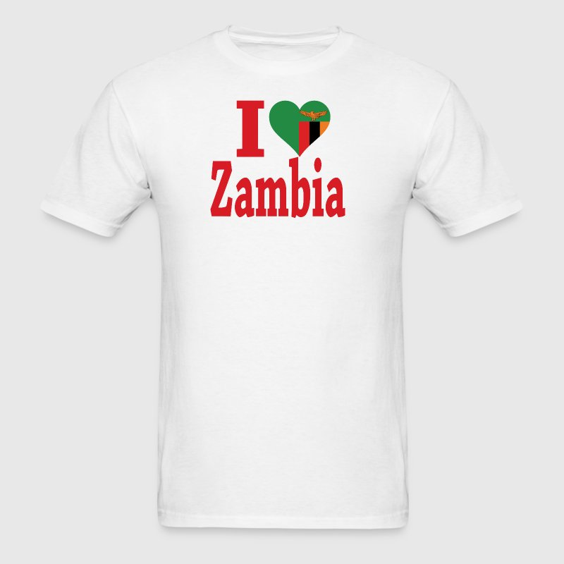 I Love Zambia Flag - Men's T-Shirt