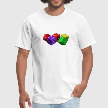 Colorful Dice - Men's T-Shirt