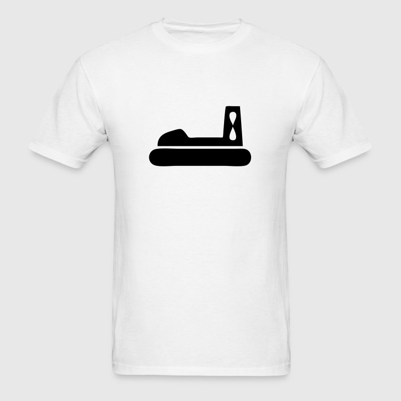 Hovercraft Silhouette - Men's T-Shirt
