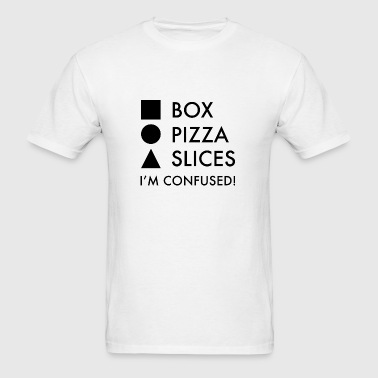 Square Box Round Pizza Triangular Slices - Men's T-Shirt