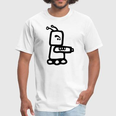 Cartoon Robot Clipart Small Cartoon Robot Killer - Men's T-Shirt