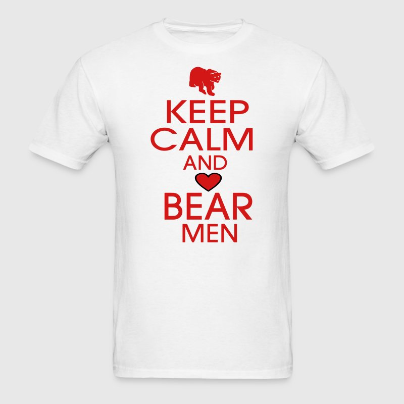 KEEP CALM AND LOVE BEAR MEN - Men's T-Shirt
