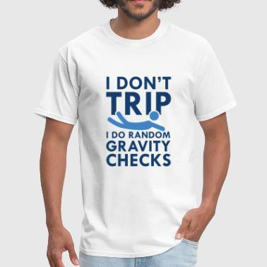 Random Gravity Checks Gravity Checks - Men's T-Shirt