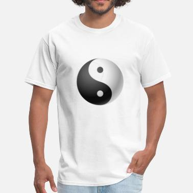 Asian China Oriental Ying yang black & white - Men's T-Shirt