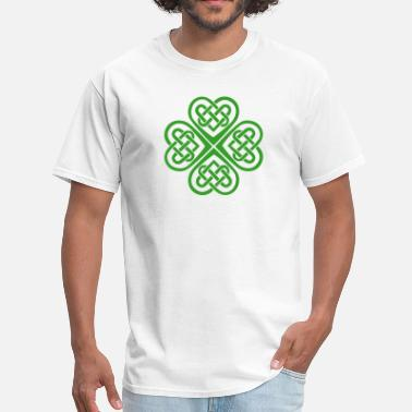 St Patrick Fantasy Celtic Heart Eternal Knot St Patricks Day Shamrock - Men's T-Shirt