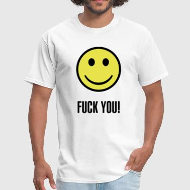 Fuck you smiley - Men's T-Shirt