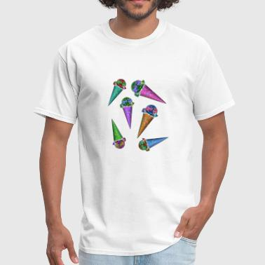 Ice Cream Cones Ice cream cones & cones & cones - Men's T-Shirt