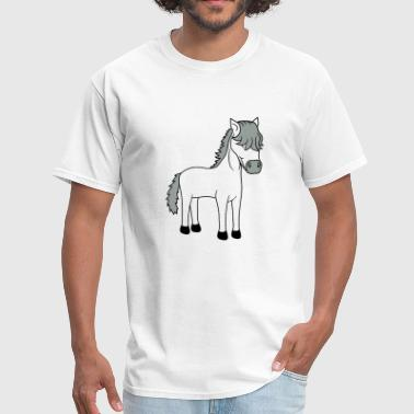 Horse Rider Cartoon cute cute little cool rider love happy mare stalli - Men's T-Shirt
