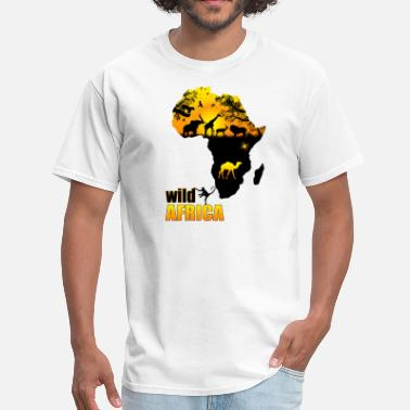 African Safari African Safari Map - Men's T-Shirt