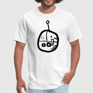 Cartoon Robot Clipart Cartoon Robot Floating Head - Men's T-Shirt