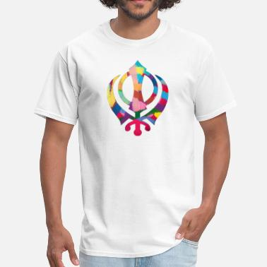 Khalsa Colorful Khanda - Men's T-Shirt