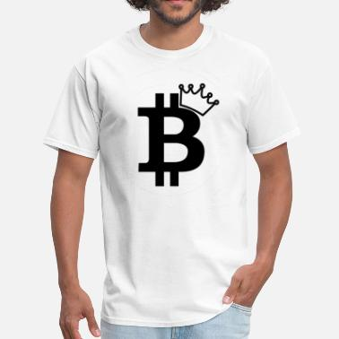 Jazz Classic Geek Bitcoin King Black Logo Design - Men's T-Shirt