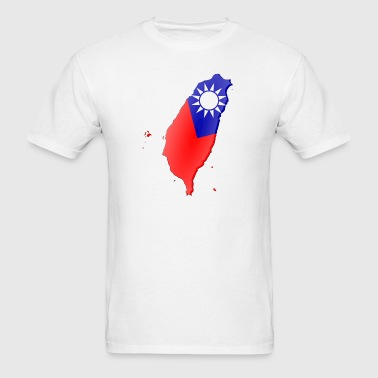 Taiwan-flag map - Men's T-Shirt