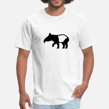 Tapir With Baby Tapir Silhouette - Men's T-Shirt