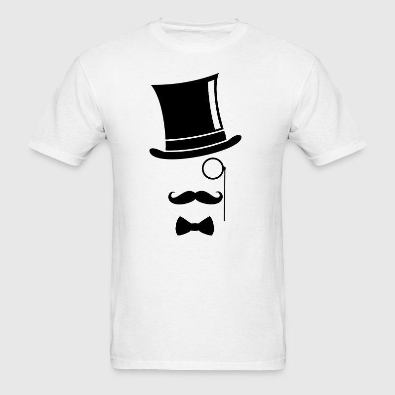 Top hat and monacle - Men's T-Shirt