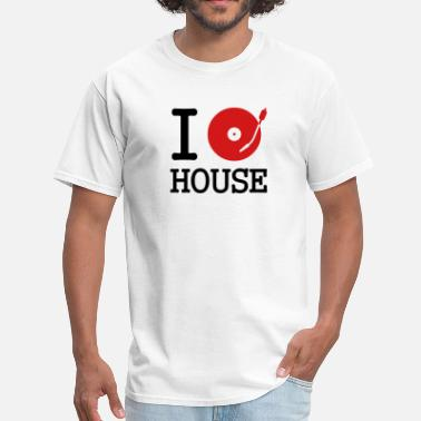Jockey I dj / play / listen to house - Men's T-Shirt