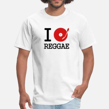 Disco I dj / play / listen to reggae - Men's T-Shirt