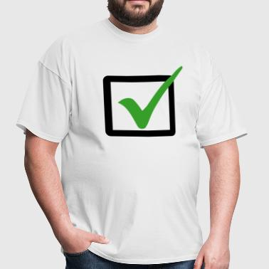 Check Box Checkbox Right false wrong ok 2c - Men's T-Shirt