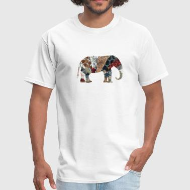 Collage artTS collage art ELEPHANT redz brownz - Men's T-Shirt