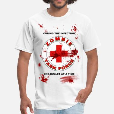 Red Time Force Zombie Task Force - Men's T-Shirt