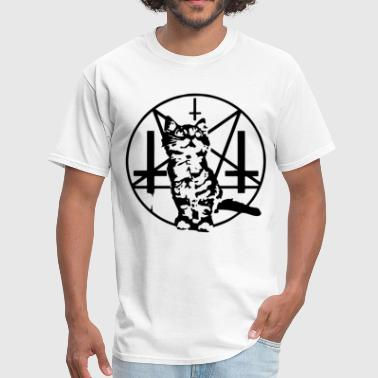 Baphomet Cat PURRRRR EVIL Satanic Cat Kitten Baphomet Baseball - Men's T-Shirt