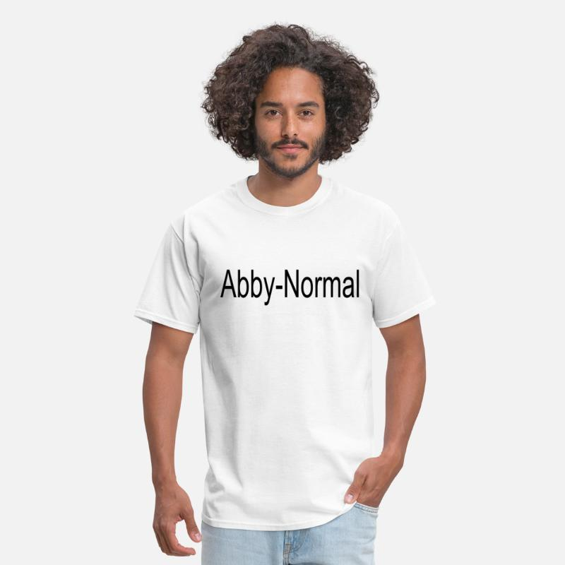 Funny T-Shirts - Abby normal - Men's T-Shirt white