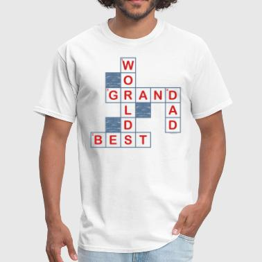 Crossword Puzzle Crossword Grandpa - Men's T-Shirt