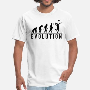 Funny Volleyball Funny Evolution Volleyball - Men's T-Shirt