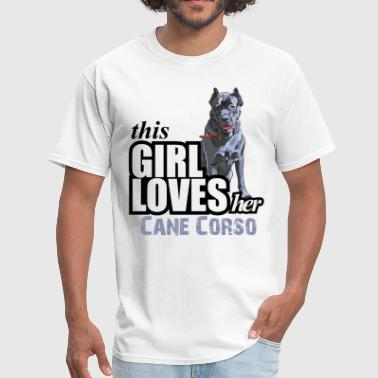 This Girl Loves Her Cane Corso - Men's T-Shirt