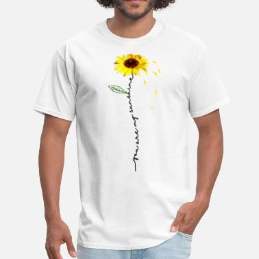 I Love Firefighter you are my sunshine hippie sunflower gifts for wom - Men's T-Shirt